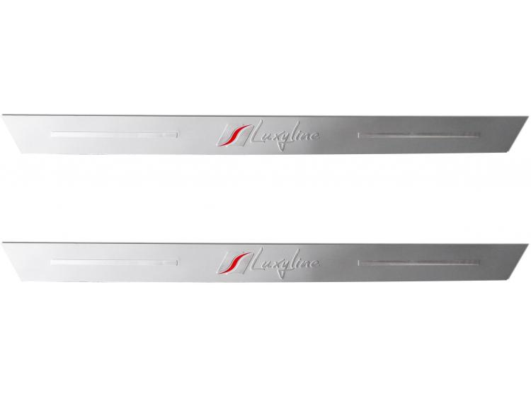2 Luxyline-Einstiegsleisten aus Aluminium