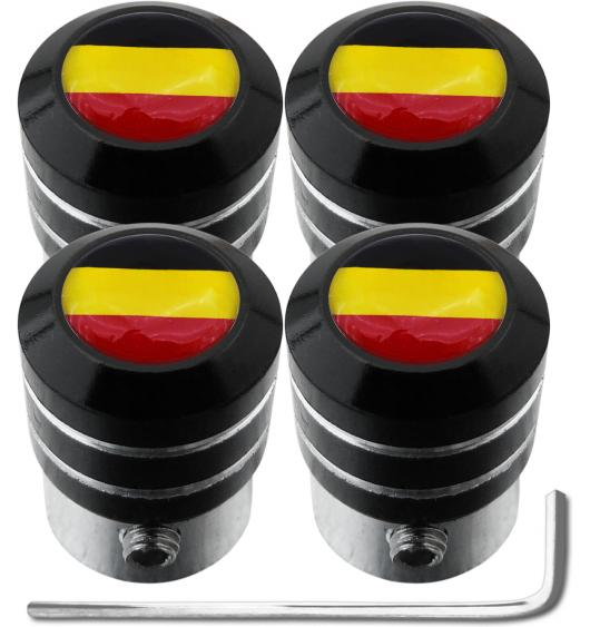 "4 Belgium flag ""black"" antitheft valve caps"