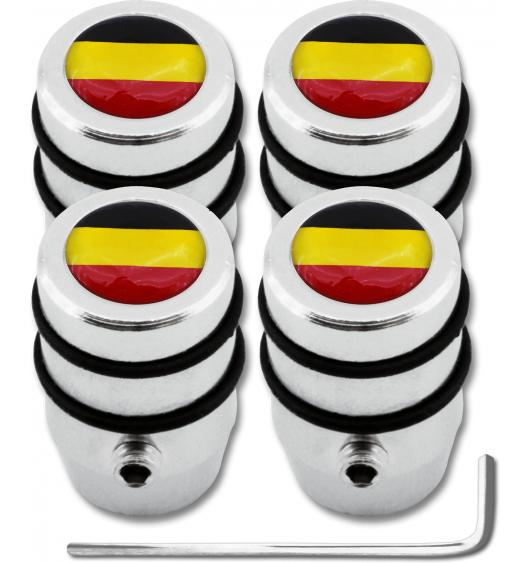 """4 Belgium flag """"design"""" antitheft valve caps"""