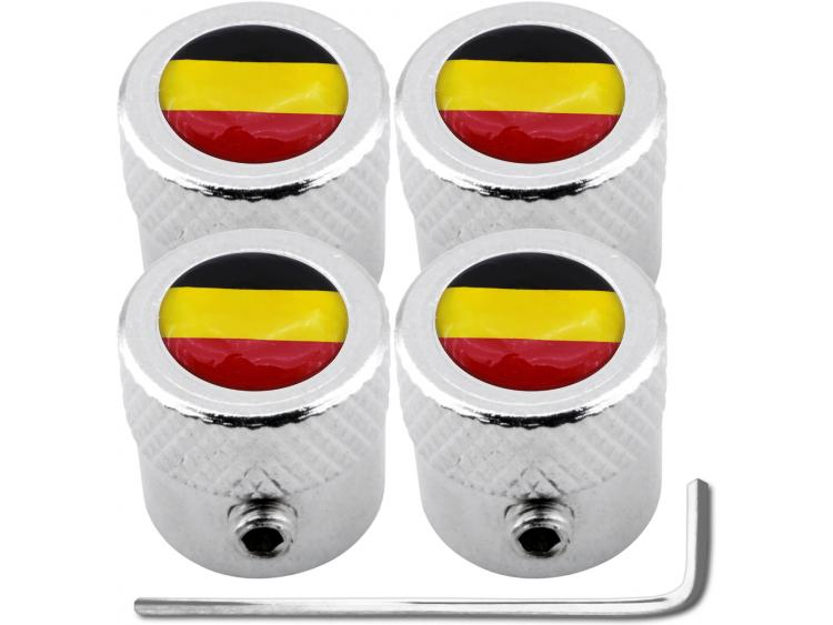 "4 Belgium flag ""striated"" antitheft valve caps"