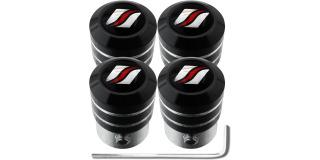 4 bouchons de valve antivol black