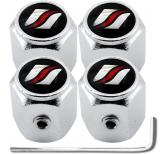 4 bouchons de valve antivol  hexa