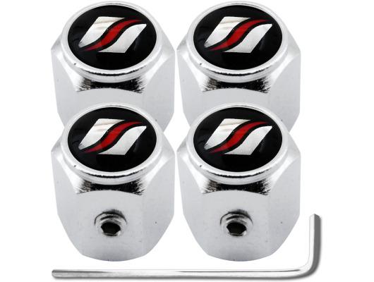 4 bouchons de valve antivol Luxyline hexa