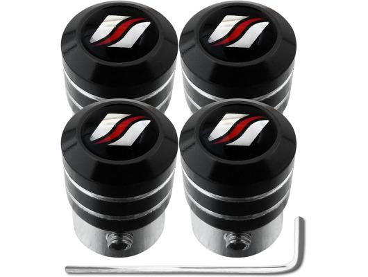 4 Luxyline black antitheft valve caps