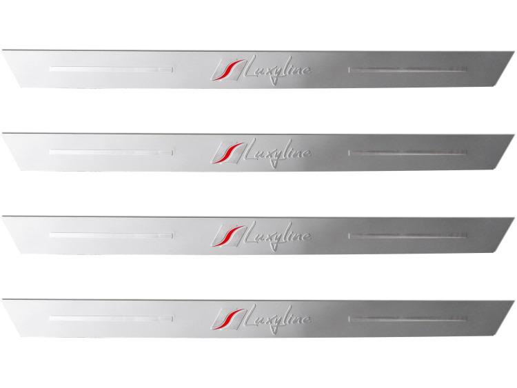 4 Luxyline-Einstiegsleisten aus Aluminium