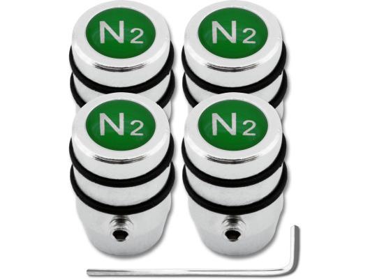 4 Nitrogen N2 green design antitheft valve caps