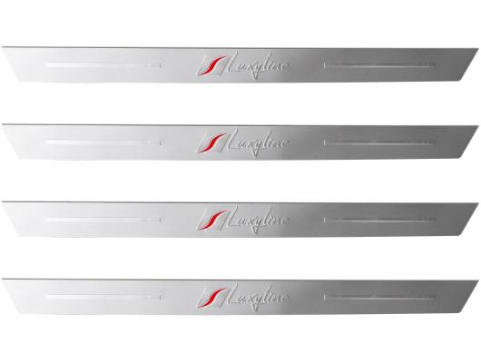 4 seuils de porte en aluminium luxyline - Seuil de porte alu brosse ...