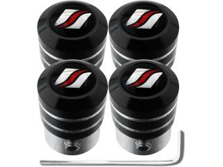 4 tappi per valvole antifurto black