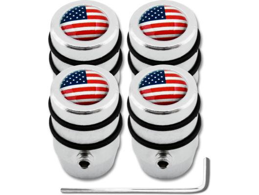 4 USA United States of America design antitheft valve caps