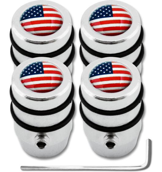 "4 USA United States of America ""design"" antitheft valve caps"
