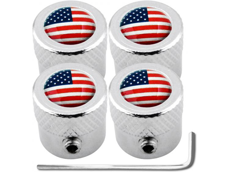 "4 USA United States of America ""striated"" antitheft valve caps"