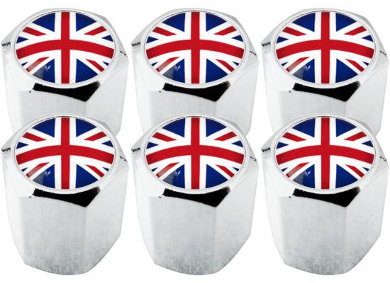 6 Bouchons De Valve Angleterre Union Jack Quot Hexa Quot