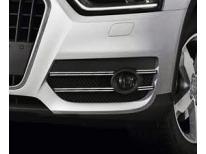DoppelZierChromleiste für Nebelscheinwerfer Audi Q3