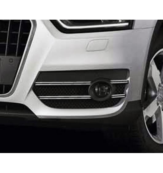 Fog lights dual chrome trim Audi Q3