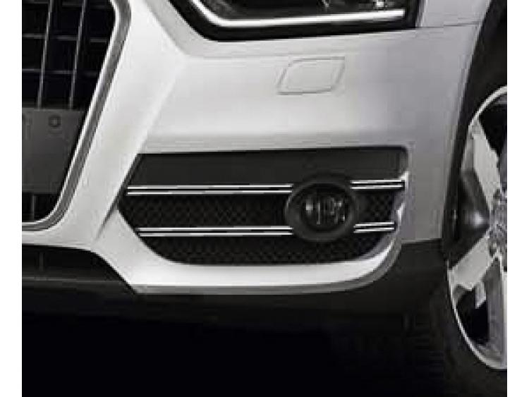 Double baguette chromée pour antibrouillards Audi Q3