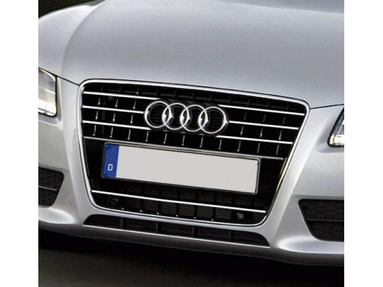 Chromleiste für Kühlergrill Audi A5 Cabriolet 09-11 Audi A5 Coupé 07-11 Audi A5 Sportback 09-11