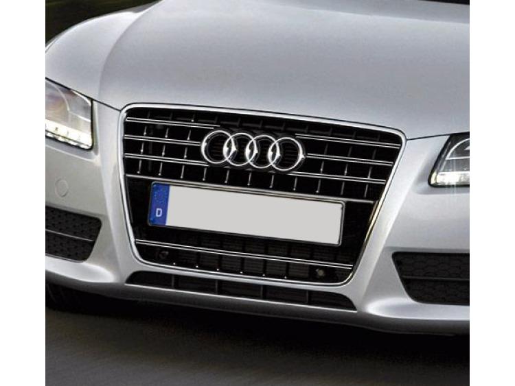 Doble moldura de calandria cromada Audi A5 Cabriolet 09-11 Audi A5 Coupé 07-11 Audi A5 Sportback 09-