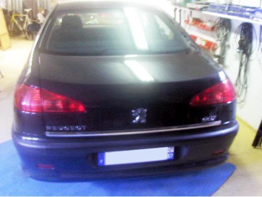 Trunk chrome trim Peugeot 607