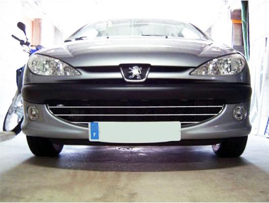 Baguette de calandre chrome Peugeot 206 Peugeot 206 CC 206 SW nid dabeille