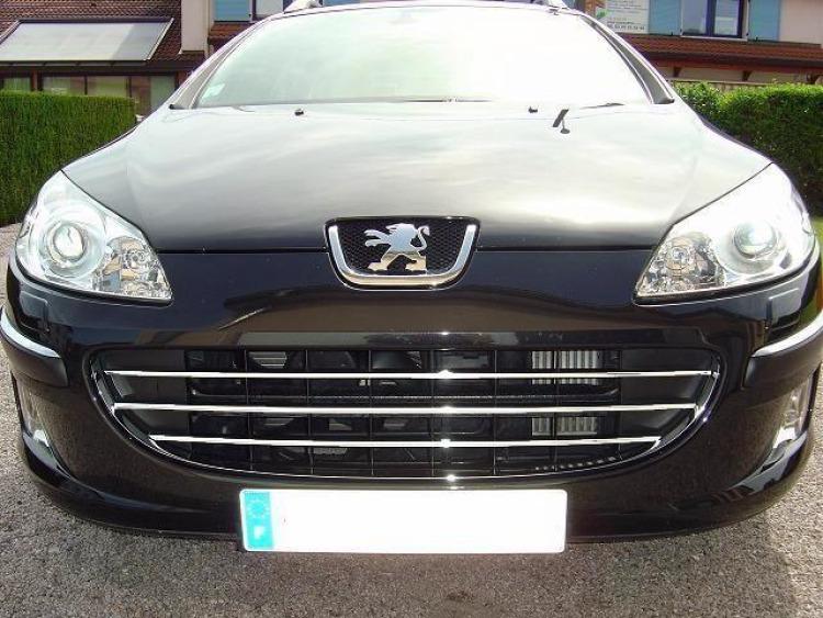 Radiator grill chrome moulding trim Peugeot 407 & Peugeot 407 SW horizontal
