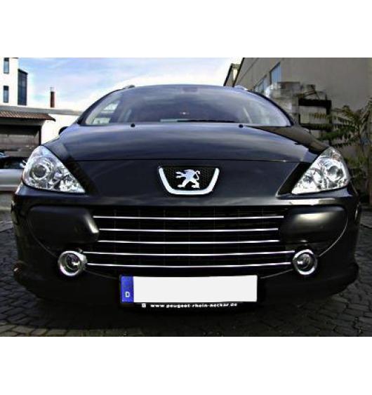 Moldura de calandria cromada Peugeot 307 05-20 Peugeot 307 CC 05-20 Peugeot 307 SW 05-20