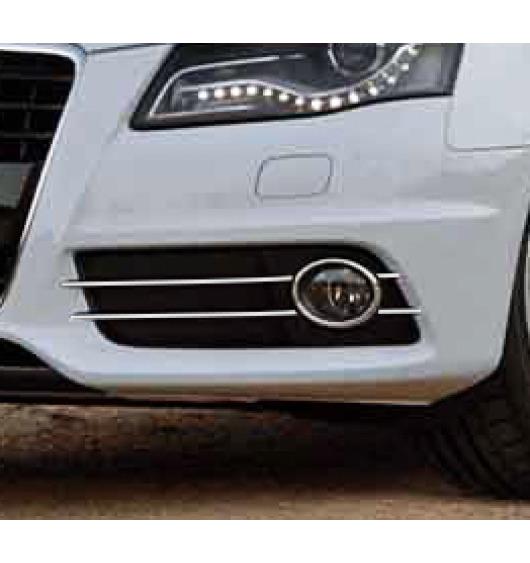 Fog lights chrome trim Audi A4 série 3 07-11 & Audi A4 série 3 avant 08-11
