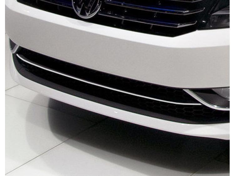 Lower radiator grill chrome trim VW Passat 10-21 v1