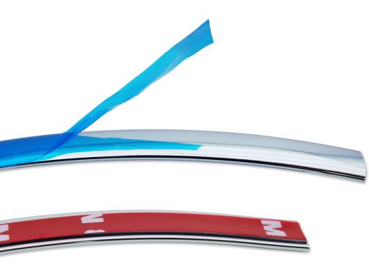 Baguette chromée de contour des vitres latérales 12mm x 10m