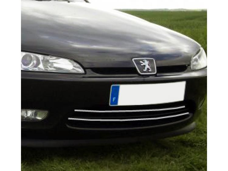 Radiator grill chrome moulding trim Peugeot 406 coupé 97-03