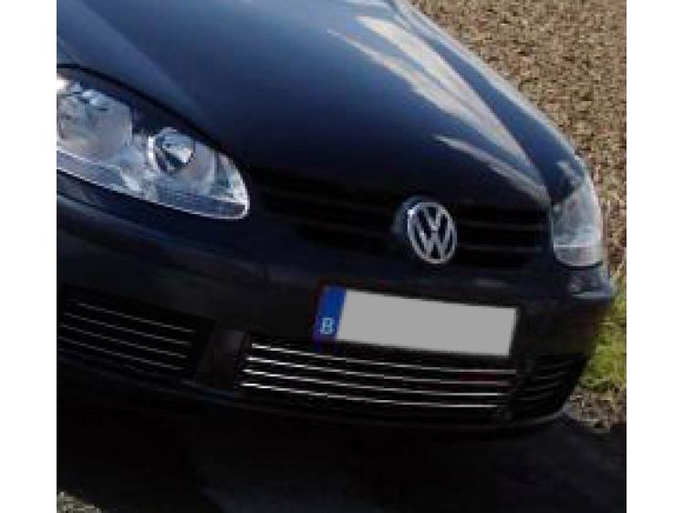 Cornice della griglia radiatore inferiore cromata VW Golf 5