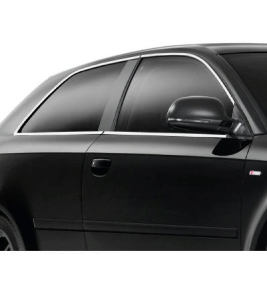 Zier-Chromleiste für seitliche Autofensterkonturen Audi A3 Série 1 96-00/Série 1 Phase 2 00-03/Série