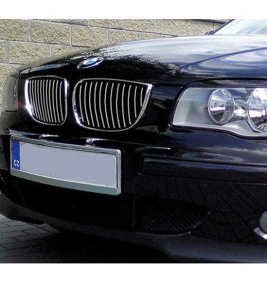 Chromleiste für Kühlergrill BMW Série 1 E81 07-11/E82 07-13 coupé/E87 04-07/E87 LCI 07-11/E88 08-13