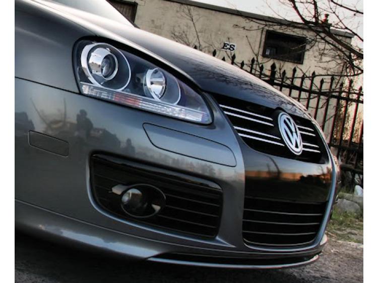 Baguette de calandre supérieure chromée VW Fox Golf 1/2/3 Jetta/Passat/Phaeton/Scirocco/Sharan/Tigua