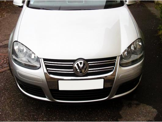 Upper radiator grill chrome trim VW Golf 5 GT TDI