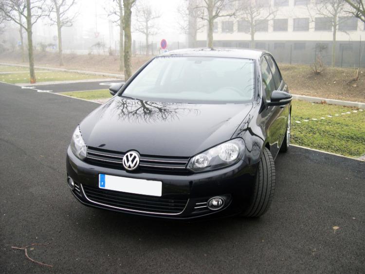 Baguette chromée pour antibrouillards VW Golf 6 & VW Golf 6 Cabriolet