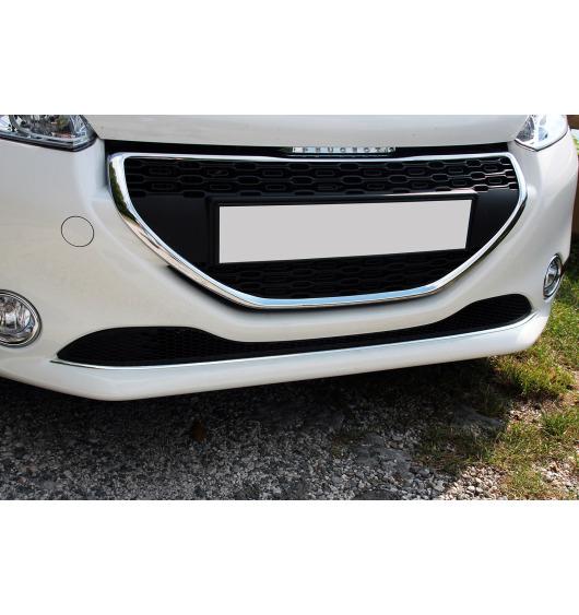 Lower radiator grill chrome trim Peugeot 208