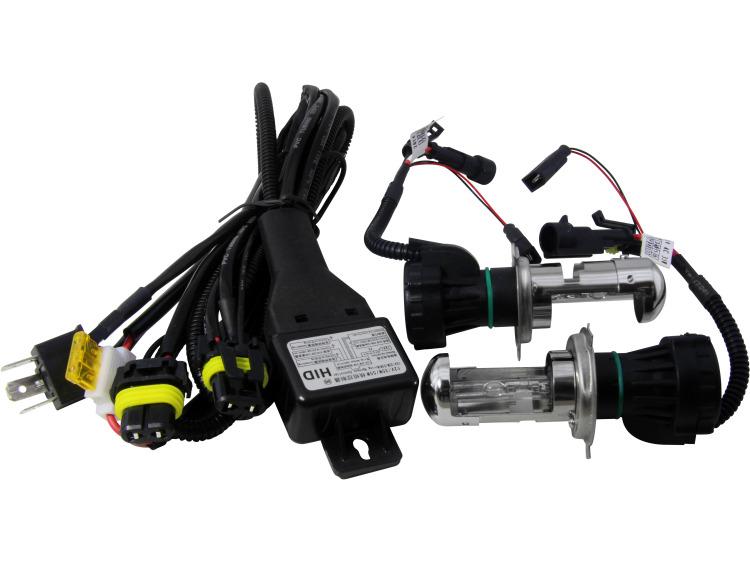 Lot de 2 ampoules xénon de rechange DC H4 6000k