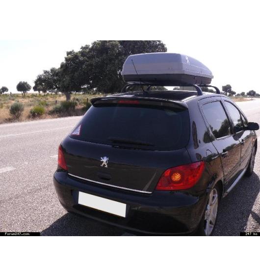 Fascia per bagagliaio cromata Peugeot 106 107 108 205 206 306 307 406 407 806 807 1007 3008 4007 400