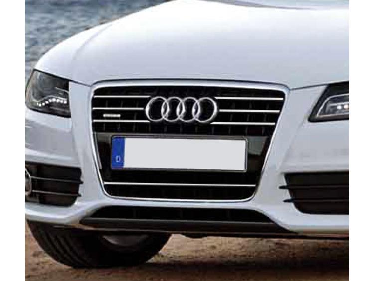 Baguette de calandre chromée Audi A4 série 3 07-11 & Audi A4 série 3 avant 08-11