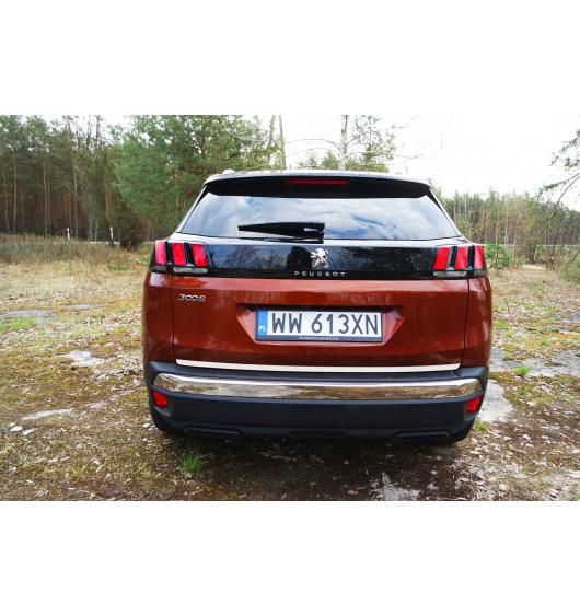 Trunk chrome trim Peugeot 3008 II (16-20)