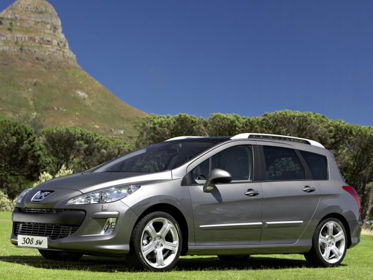 Chrome side protection trim Peugeot 308 SW 08-14