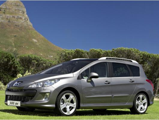 Side windows lower chrome trim Peugeot 308 SW 0814