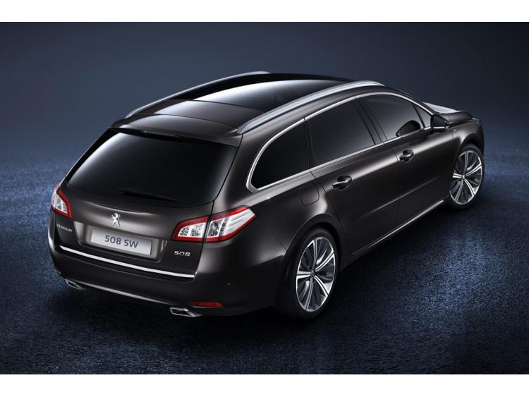 Trunk chrome trim Peugeot 508 SW phase 2