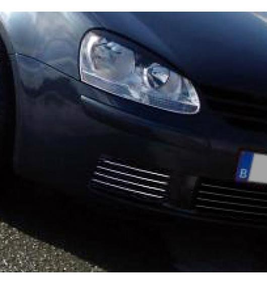 Fog lights chrome trim VW Golf 5