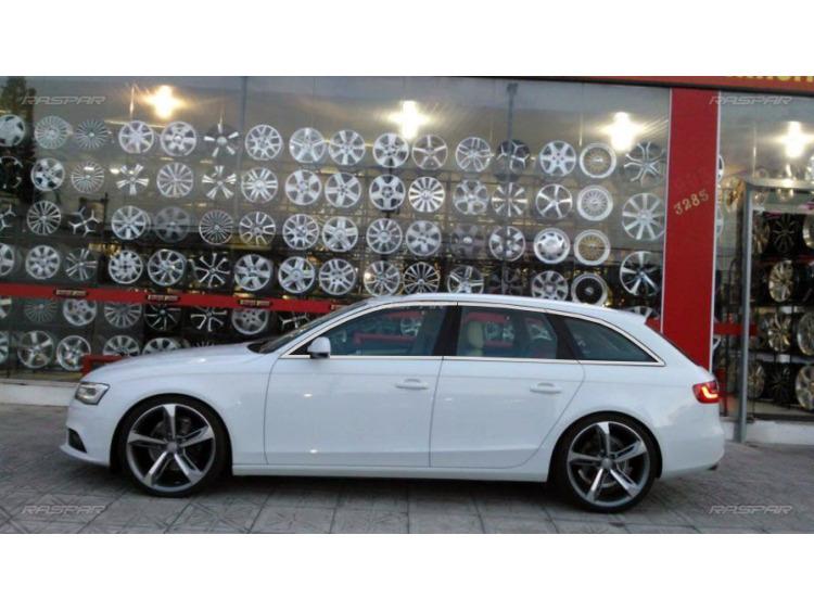 Baguette chromée de contour des vitres latérales Audi A4 série 3 avant 08-11