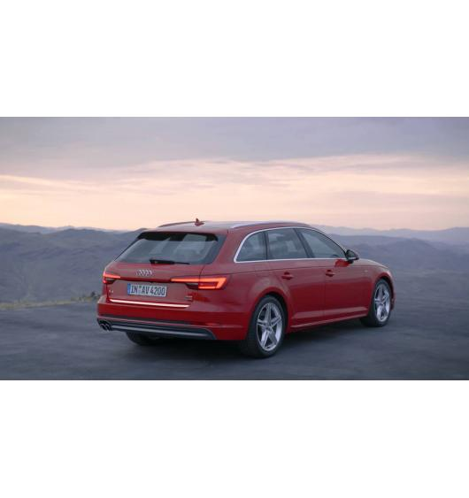 Trunk chrome trim Audi A4 série 4 avant 15-20