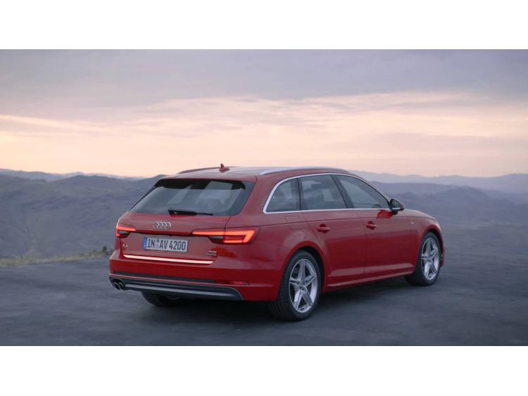 Baguette de coffre chromée Audi A4 série 4 avant 15-21