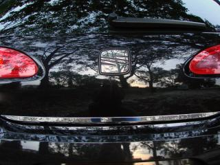 Trunk chrome trim