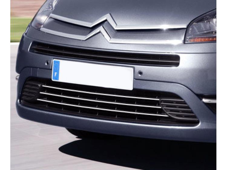 Lower radiator grill chrome trim Citroën C4 Grand Picasso (06-13)