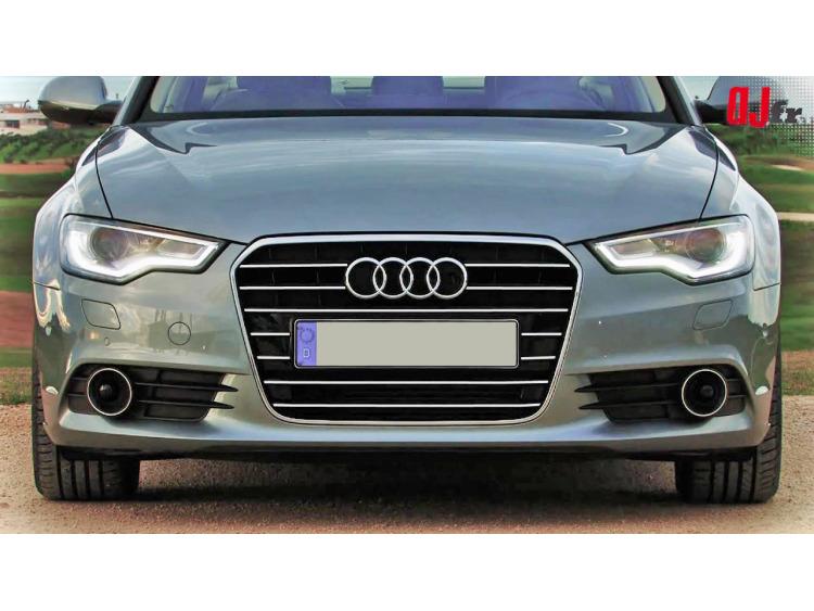 Baguette de calandre chromée Audi A6 Série 4 Avant 10-15 & Audi A6 Série 4 Berline 10-15